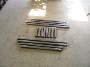 Photo of cut tubing for battery box