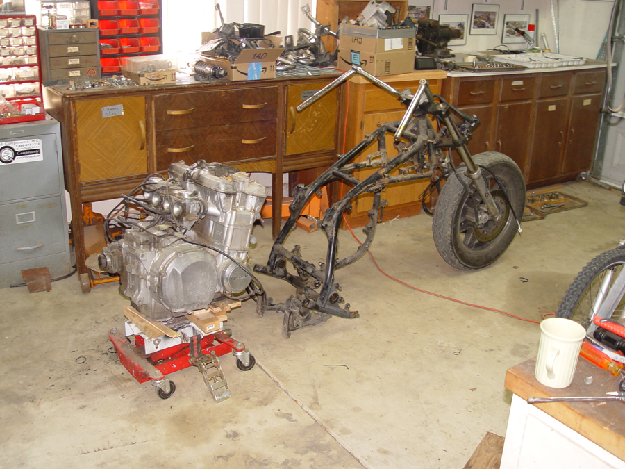 Photo of Kawasaki Voyager engine removal