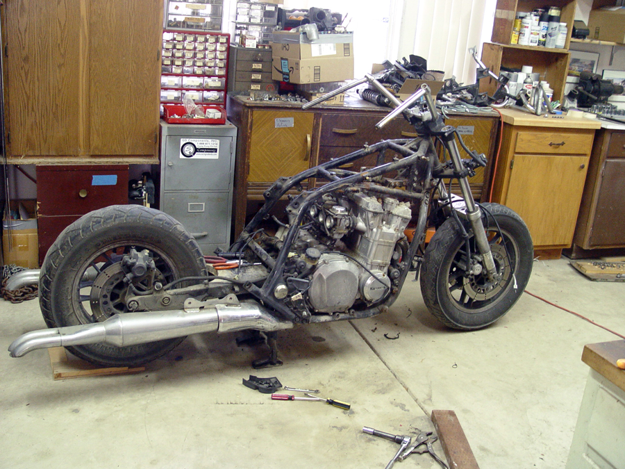 Photo of Kawasaki Voyager being stripped