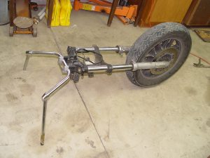 Kawasaki Voyager front fork removed