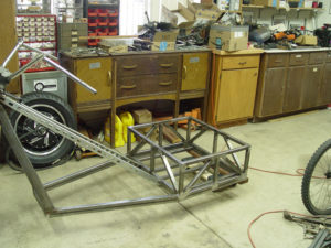 Photo of battery box for electric trike