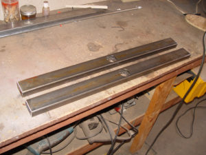 Photo of fabricating swing arms