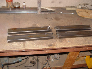 Photo of swing arm fabrication