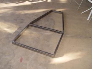 Photo of frame for electrick chopper trike