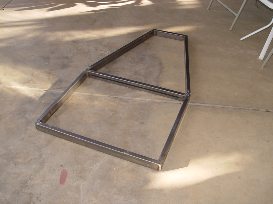 Photo of frame for electrick chopper trike