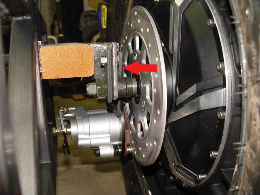 Photo of mounting caliper and bracket