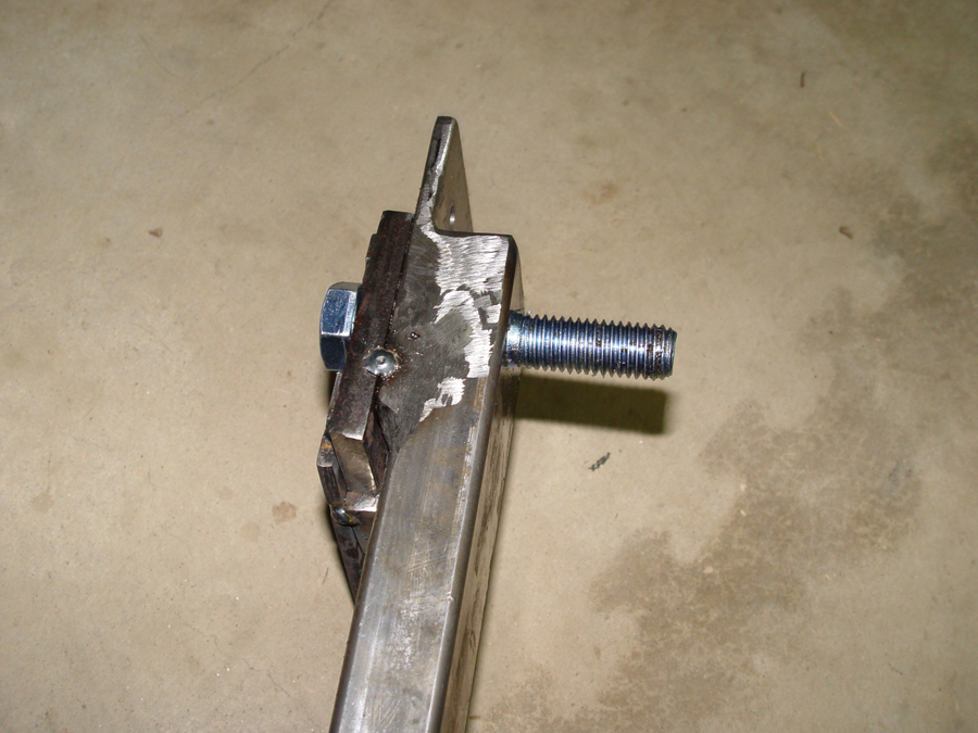 Photo of lower shock mounting bolt