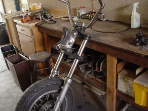 Photo of Kawasaki Voyager removed front fork