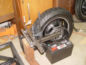 Photo of swing arm parts ready for welding
