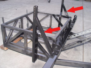 Photo of angle braces for shock tower