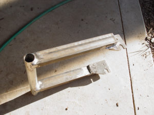 Photo of finished swing arm