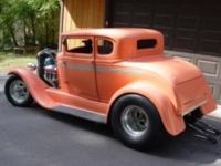 photo of 1930 model A couple with 396 Chevy engine