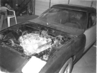 Mazda RX7 with 307 Oldsmobile engine