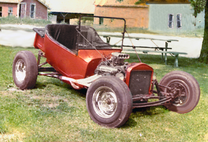 1923 model T with Buick 322 nailhead engine