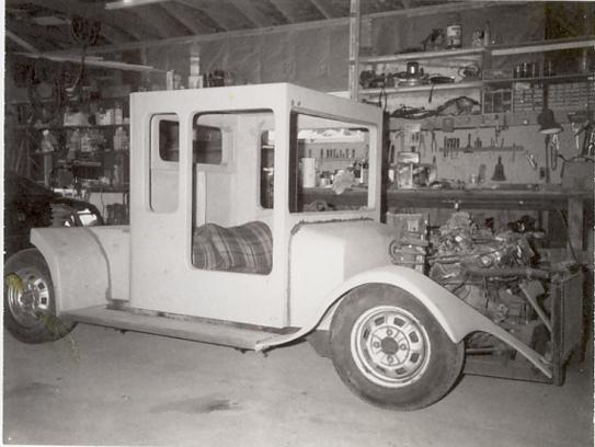 Photo of hand fabricated fiberglass truck