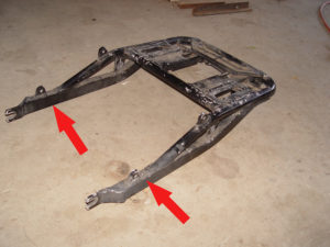 Photo of Kawasaki cargo case frame mount