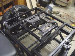 Photo of cargo case frame installed