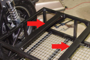 Photo of mounting bars for controllers