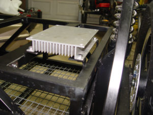 Photo of heat sink bolted in place