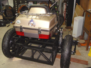 Photo of rear view of installed cargo case