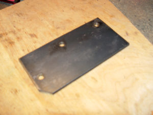 Mounting plate for brake pedal