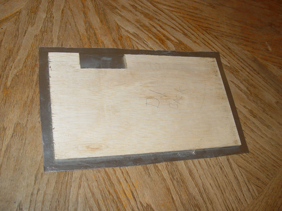 Photo of glued panel from back side