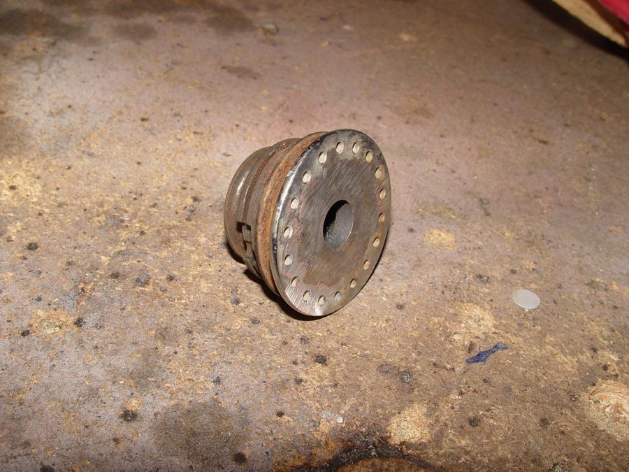 Photo of back side of wheel disk