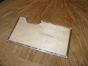 Photo showing how to cut inside corners
