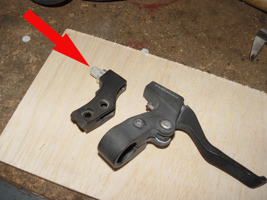 Photo of usable part of brake lever guide