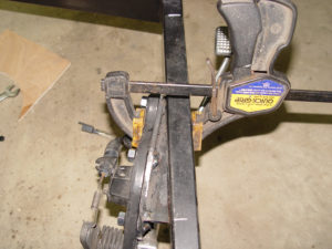 Brake pedal bracket clamped for welding to frame