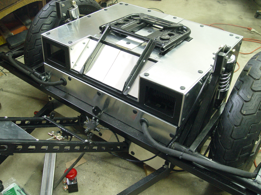 Photo of front view of installed body panels