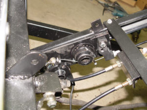 Photo of regeneration controller mounted on trike frame