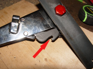 Photo of slot used to secure ratcheting mechanism